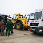 Baustellenbetankung Kiesgrube